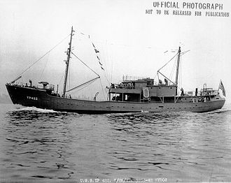 Military career of L. Ron Hubbard - The yard patrol craft USS YP-422, L. Ron Hubbard's first command, a few days before its official commissioning