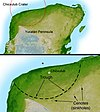 Map of the Chicxulub crater.