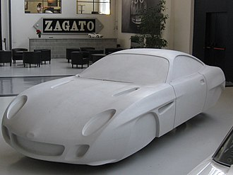"Zagato - A full size ""clay"" mock-up of the Ottovu Diatto at the Zagato Design Studio showroom"