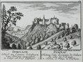 Zentralbibliothek Solothurn - DORNACH Schloss im Canton Solothurn von Morgen anzusehen A Schloss und Dorf Pfeffingen I DORNAC Château dans le Canton de Soleure ducôte de lOrient A Château et Village de Pfeffingue - a0642.tif