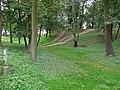Zespół zamku Radziwiłłów (XVIIw.,XIXw.) (wały obronne z fosą) (fot. 1) - Biała Podlaska ul. Warszawska woj. lubelskie ArPiCh A-134.JPG