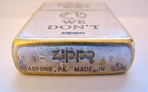 Zippo lighter (bottom)