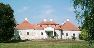 Želiezovce - Image: Zselíz Schubert park manor