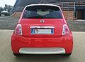 """15 - EXPO MILANO 2015 - Fiat 500e orange Battery-powered automobiles - rear view.jpg"