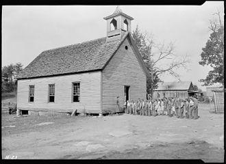 Loyston, Tennessee - Oakdale School, 1933