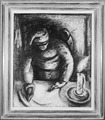 """Woman Ironing by Candlelight"" - NARA - 559005.tif"