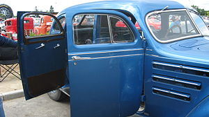 Car door - Open doors of a Chrysler Airflow