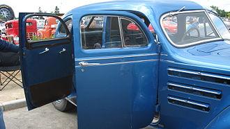 Car door - Open doors of a Chrysler Airflow