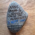 'Anne Frank & family. Train to Auschwitz. 3 Sept 1944. 75 years ago' - London.jpg