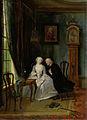 'De wanhebbelijke liefde', misschien de scène van de weduwnaar Joost bij Lucia, 2de toneel uit het gelijknamige stuk van C J van der Lijn Rijksmuseum SK-A-4099.jpeg