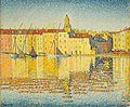'Maisons du port, Saint-Tropez' by Paul Signac.jpg