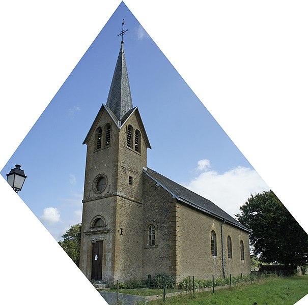 Une vue de l'Église La Moncelle.