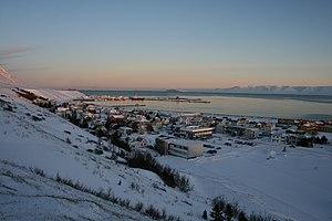 """Sauðárkrókur - """"Old town"""" wintertime Sauðárkrókur"""