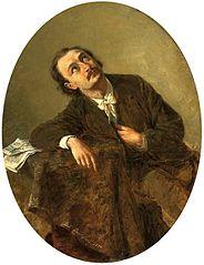 Portret Michała Hertza, artysty muzyka