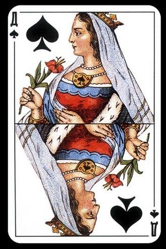 Queen of spades - Queen of spades from Russian deck