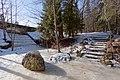 Весенняя Сергиевка. Мост-плотина Большого пруда вид с севера..jpg