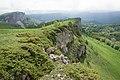 Вид на скалу Крепость, горы Западного Кавказа, Псебайский заказник.jpg