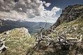 Вид с плато Черногор в сторону вершин, ограничивающих плато Лаго-Наки.jpg