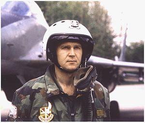 Air Force of Serbia and Montenegro - Captain Zoran Radosavljevic in 1997.
