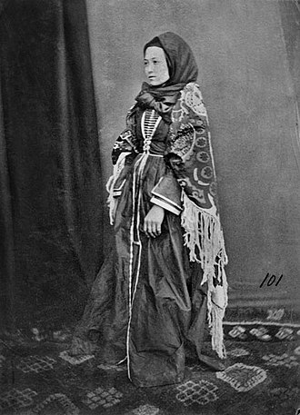 Nakh peoples - Ingush woman in traditional costume, 1881