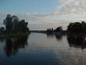 Onega Canal - The Onega Canal at Voznesenye