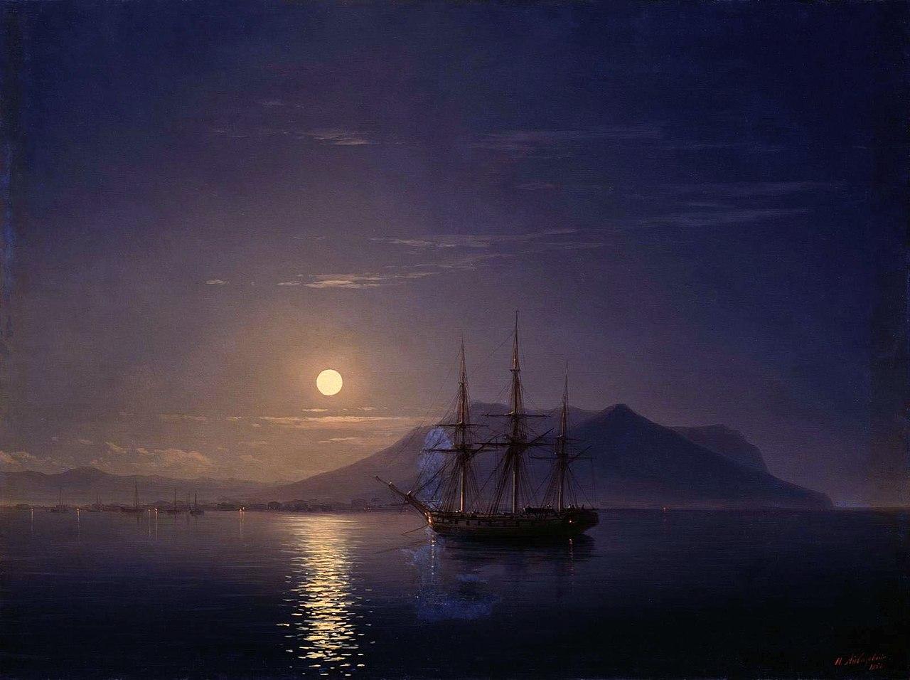 Файл:Парусник у берегов Крыма в лунную ночь Айвазовского.jpg — Википедия