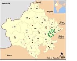 Vị trí của Huyện Sawai Madhopur