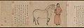 元 趙孟頫 趙雍 趙麟 吳興趙氏三世人馬圖 卷-Grooms and Horses MET DP303905.jpg
