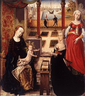 Madonna and Child with Donor. and Mary Magdalene