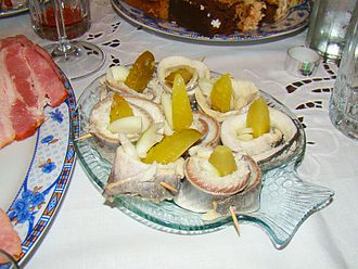 Rollmops - Rollmops, Christmas Eve table. Herrings are important in Wigilia Polish culture.