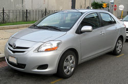2007–2008 Toyota Yaris sedan (US)