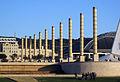 063 Plaça d'Europa, al fons l'Estadi Olímpic.jpg