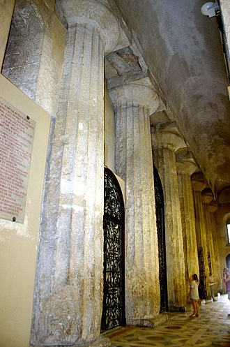 Cathedral of Syracuse - Image: 0778 Siracusa Duomo Navata destra Foto Giovanni Dall'Orto 22 May 2008