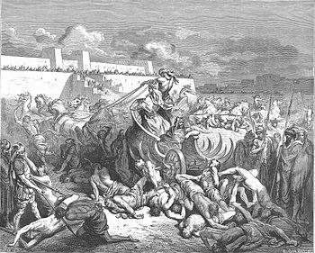 English: David Attacks the Ammonites (2Sam. 12...