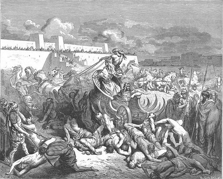 다윗이 암몬 사람들을 공격하다 (귀스타브 도레, Gustave Dore, 1866년)