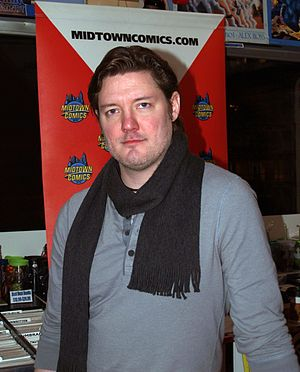 John Cassaday - Cassaday at a book signing at Midtown Comics in Manhattan