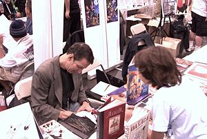 Peter Kuper - Kuper sketching at the New York Comic Con, October 10, 2010.
