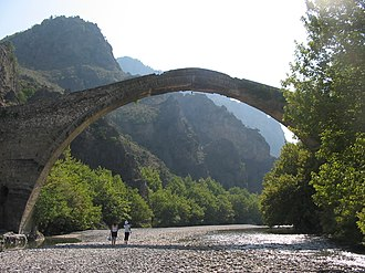 Aoös - The old bridge of Konitsa over the Aoos river, just before the Vikos–Aoös National Park