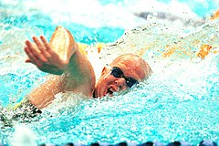 141100 - Swimming freestyle Paul Cross action - 3b - 2000 Sydney event photo.jpg