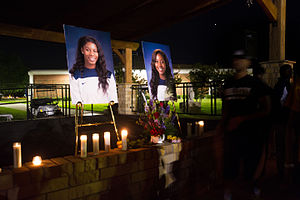 Texas A&M–Commerce Lions women's basketball - The candlelight service for Devin Oliver and Aubree Butts