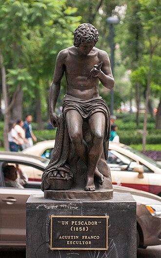 Un Pescador - The statue near Alameda Central, 2015