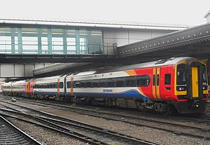 British Rail Class 158 - A pair of East Midlands Trains Class 158, led by No. 158854, at Sheffield