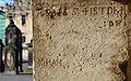 1654 Strebepfeiler Nikolaikapelle Hannover Inschrift Bildhauer Johan ..., 01.jpg