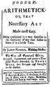 1719 Hodder Arithmetick James Franklin Boston.png