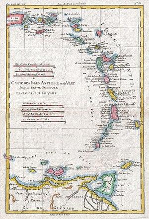 Juan Álvarez de Eulate y Ladrón de Cegama - Later map showing Tortuga, Margarita, Trinidad and Tobago off the shore of South America, and the Antilles to the north.