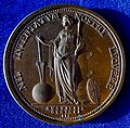 1783 Royal Society of London Medal ND by Lewis Pingo in James Cook's Memory, reverse.jpg
