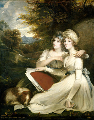 1795 in art - Hoppner's portrait of the Frankland sisters