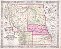 1863 Johnson's Map of Colorado, Dakota, Idaho, Nebraska ^ Kansas - Geographicus - COCANE-j-64.jpg