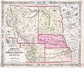 1863 Johnson's Map of Colorado, Dakota, Idaho, Nebraska ^ Kansas - Geographicus - COCANE-j-64.jpg