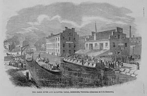 James River and Kanawha Canal - The canal in 1865.